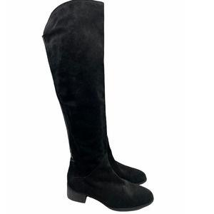 Zara Black Suede Over the Knee Boot 10